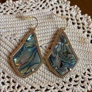 Kendra Scott Alex Gold Drop Earrings Abalone Shell